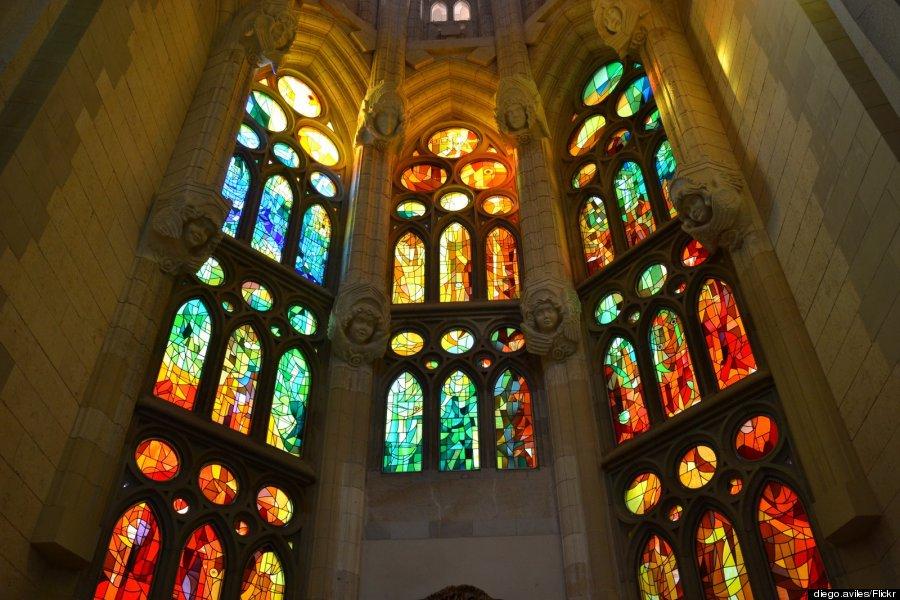 stained glass sagrada familia
