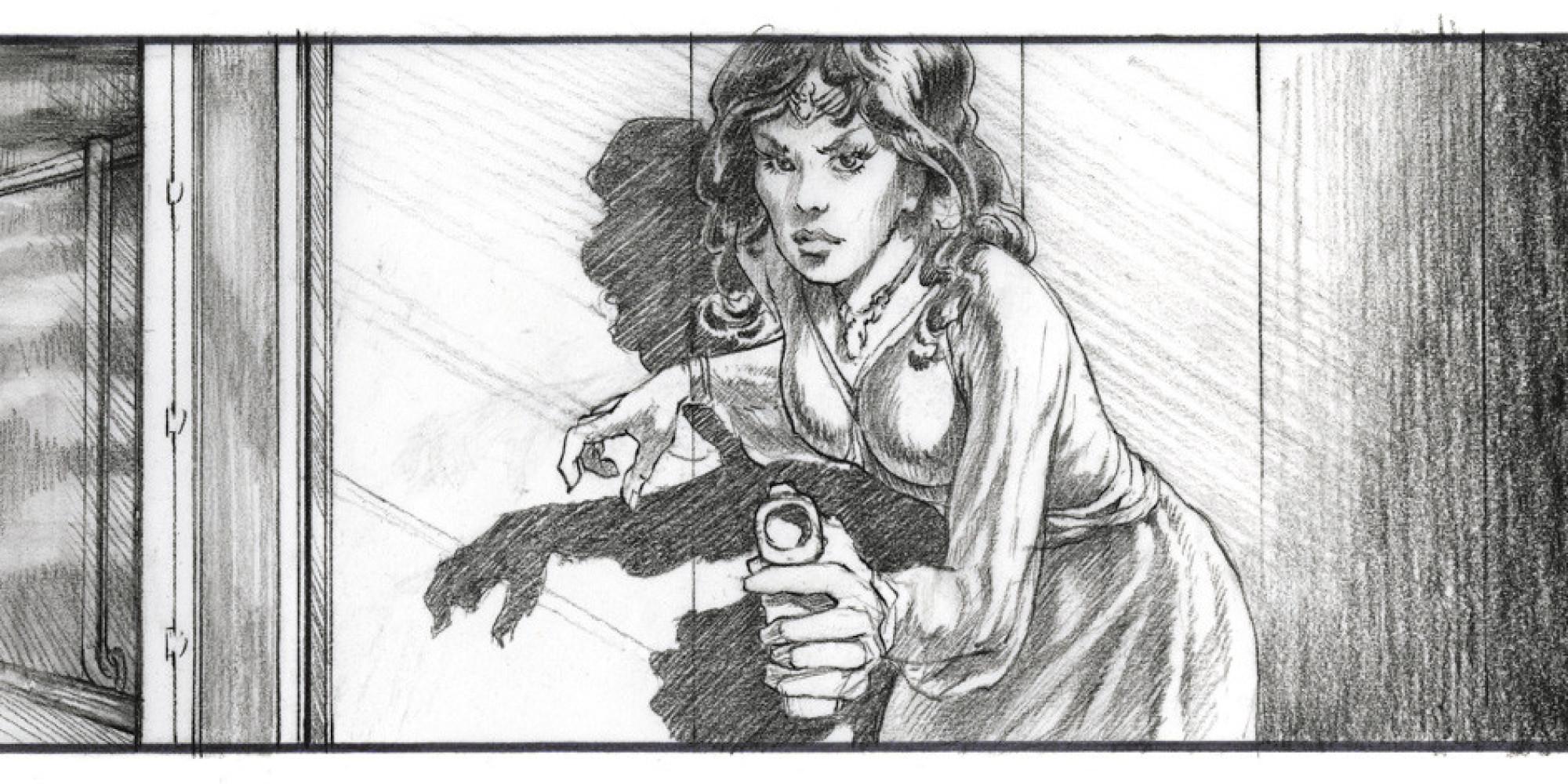 Original Star Wars Storyboards Reveal Lost Obi Wan Kenobi Scene Early Leia Look Huffpost