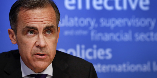 Mark Carney, governor of the Bank of England and chairman of the Financial Stability Board (FSB), speaks during a news conference following the board's plenary meeting at the Bank of England in London, U.K., on Monday, March 31, 2014. Carney said the FSB wants lenders and the International Swaps and Derivatives Association Inc., an industry group, to come up with proposals to write temporary pauses into derivatives contracts struck with banks that hit financial trouble. Photographer: Simon Dawso