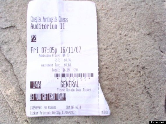ripped ticket