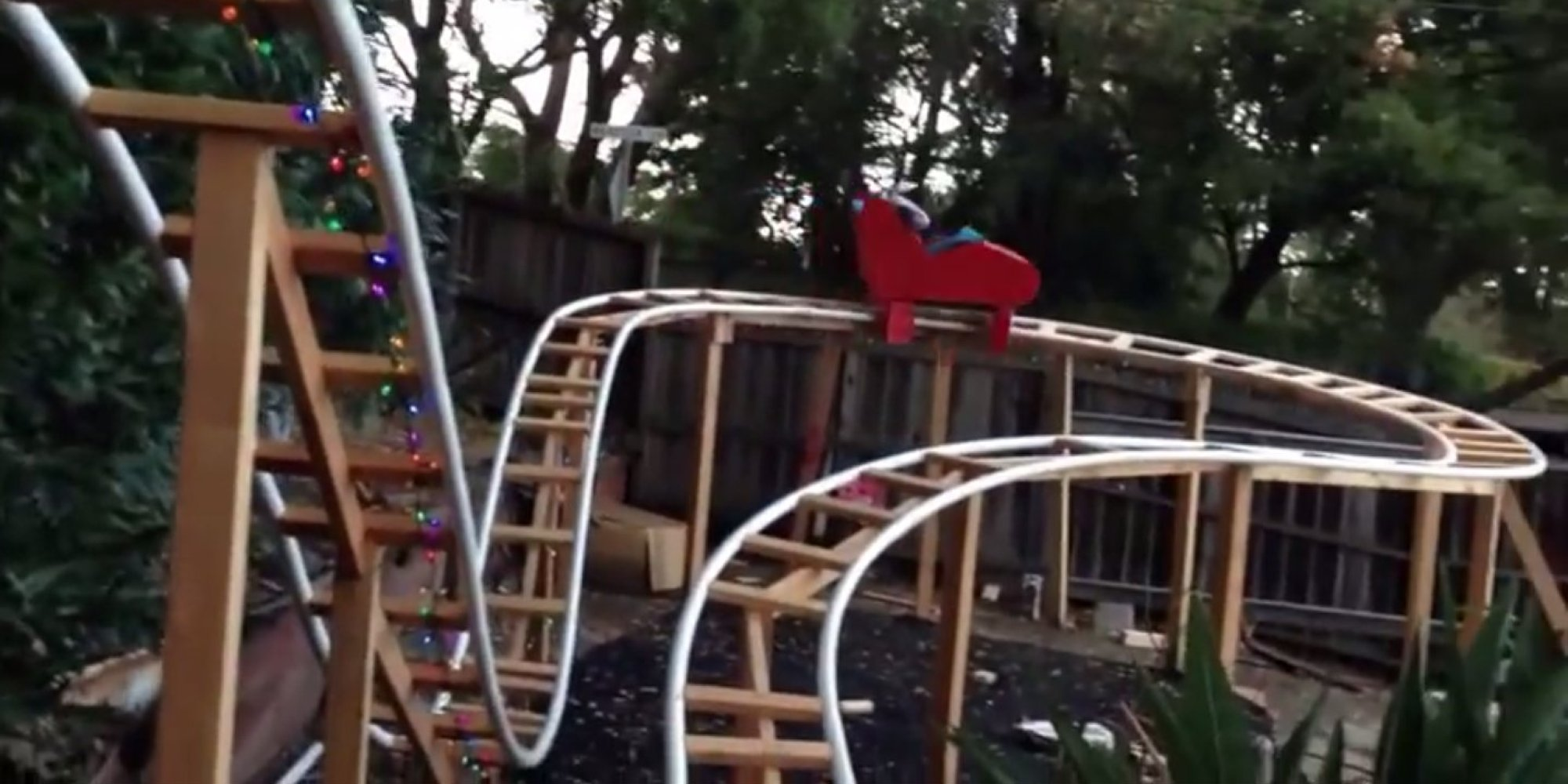 This Dad Built A Roller Coaster In His Backyard For His ...