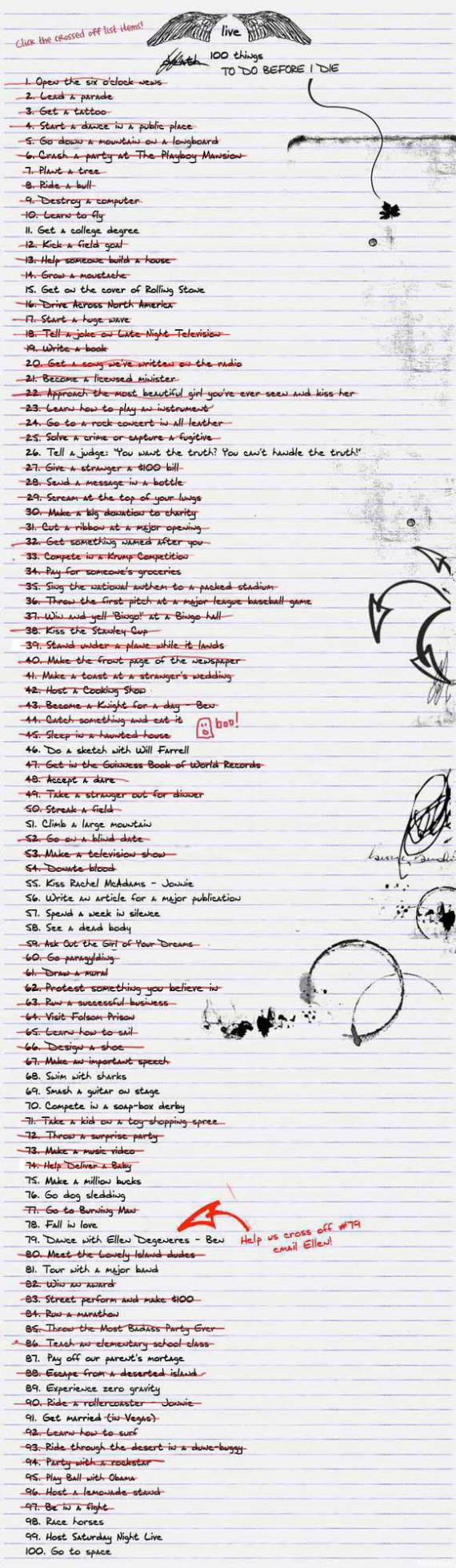 lista buried life