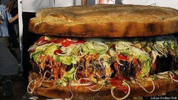 Calgary Stampede 2014 Giant 777 Pound Hamburger On The