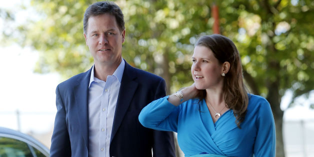 Liberal Democrats leader Nick Clegg and MP Jo Swinson arrives at the Liberal Democrats' autumn conference at The Clyde Auditorium in Glasgow, Scotland.