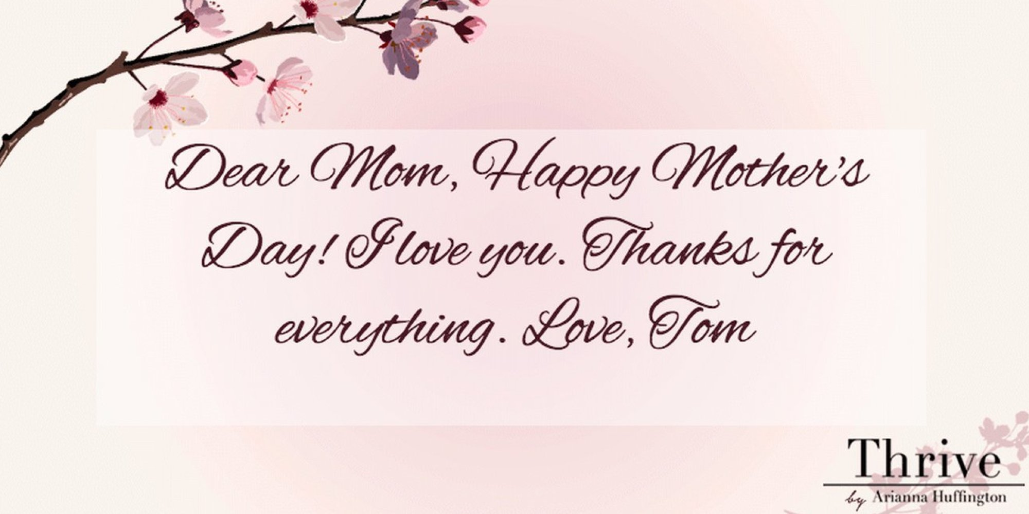 Send A Mothers Day E Card And Thank Your Mom For Teaching You To