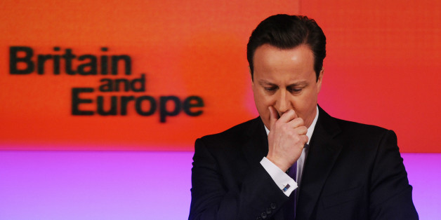 File photo dated 23/1/2013 of Prime Minister David Cameron makes a speech on Europe, in central London, where he promised an in/out referendum on the UK's membership of the European Union by the end of 2017, if the Conservatives win the next general election.