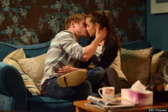 eastenders peter lucy kiss
