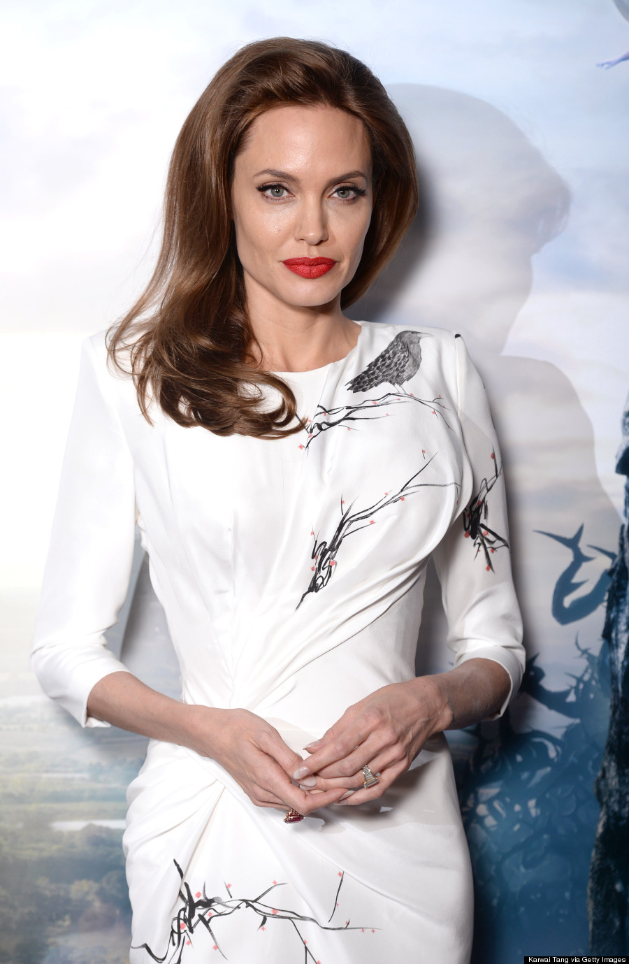 Angelina Jolie Is A Vision In White Body-Hugging Versace ...