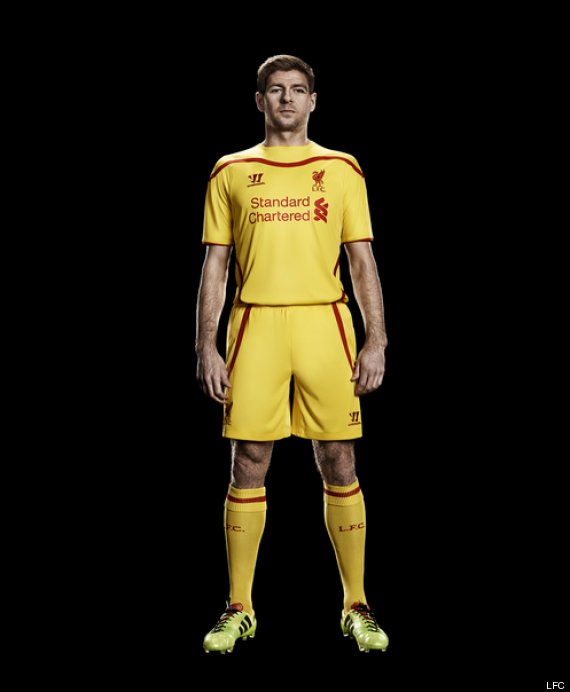 07aa04c42 Liverpool s 2014-15 New Warrior Home Kit. liverpool away kit