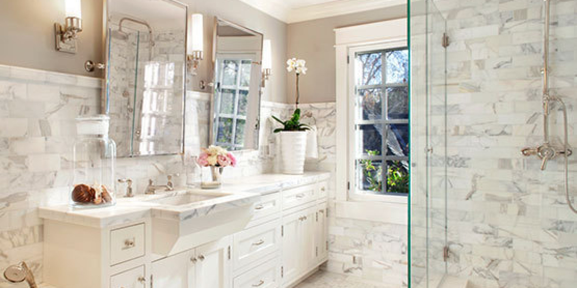 7 marble bathrooms that redefine luxury huffpost - Bathroom Ideas Marble