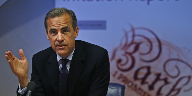 Governor of the Bank of England Mark Carney during a news conference to present the UK Quarterly Inflation Report, in central London where he upgraded the UK growth forecast for next year and said the Bank expects unemployment to fall more quickly than previously thought.