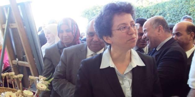 La ministre du Commerce et de l'Artisanat tunisien, Najla Harrouche lors du lancement de la 52ème édition de l'exposition internationale de Nabeul