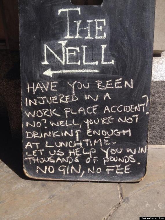 funny london pub sign