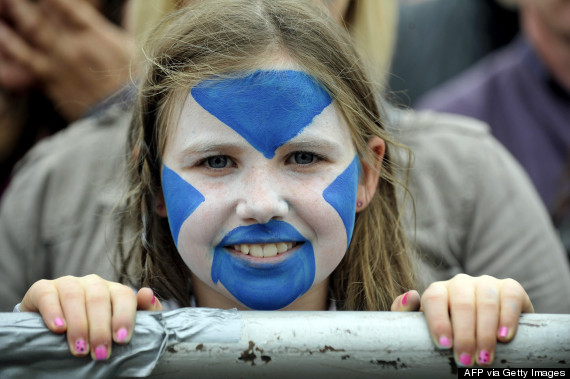 scotland referendum face paint