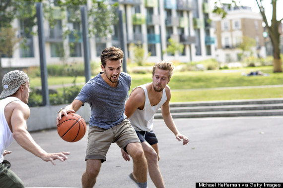playing sport