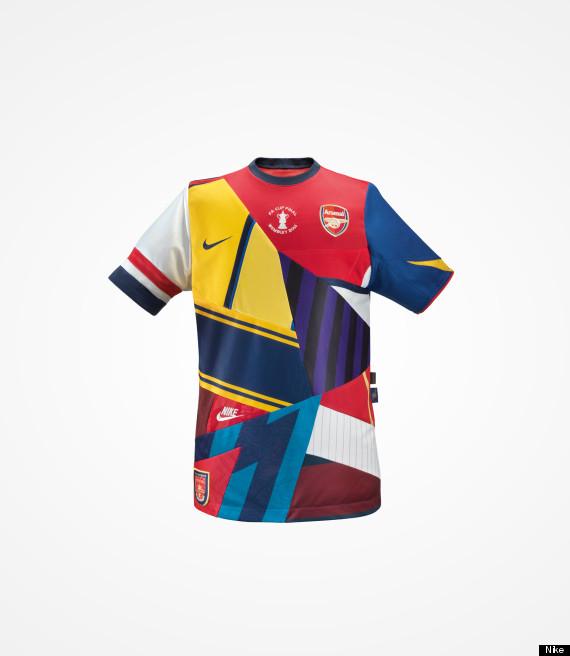 arsenal nike 20 years shirt