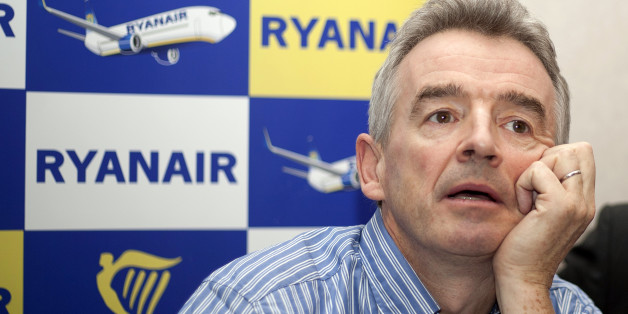 The chief executive officer of  Irish low-cost airline Ryanair, Michael O'Leary, gives a press conference on November 27, 2013  in Brussels to announce his company will establish a second base in Belgium at Zaventem airport, running 10 daily flights from there as of February 2014.   AFP PHOTO / BELGA / JORGE DIRCKX                  - BELGIUM OUT -        (Photo credit should read JORGE DIRCKX/AFP/Getty Images)