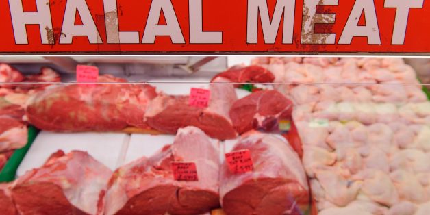 General view of a butchers selling halal meat in Brixton, south London, as a review of labelling of halal meat will be conducted if the industry fails to deliver more transparency within the next few months, Downing Street has said.