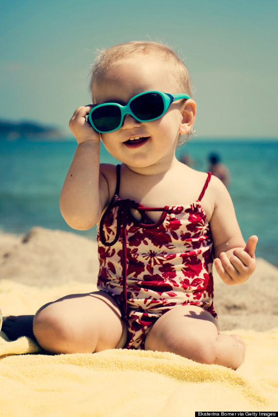happy baby beach