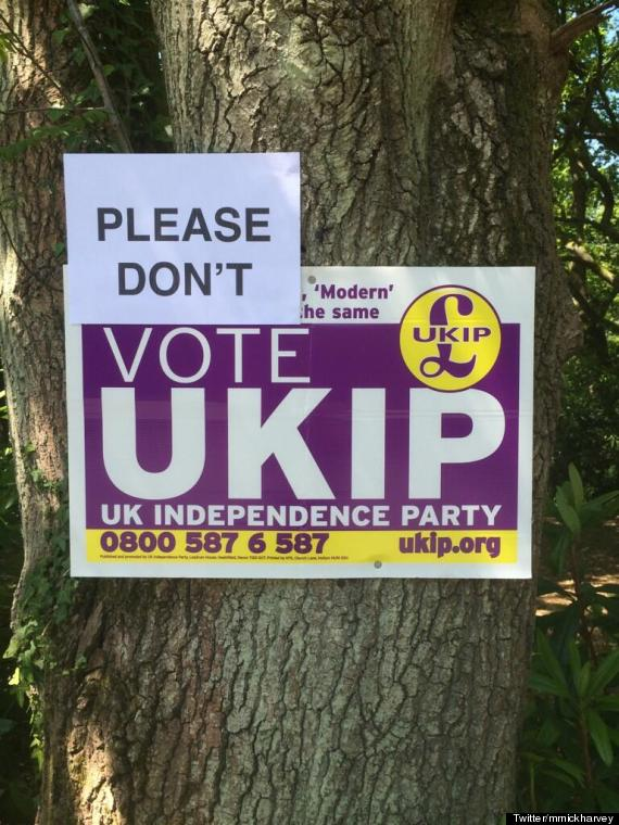 please dont vote ukip poster