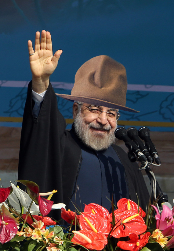 hassan rouhani in a pharrell hat