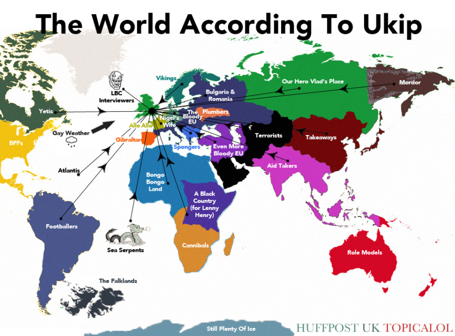 UPDATED The Ukip Map Of The World