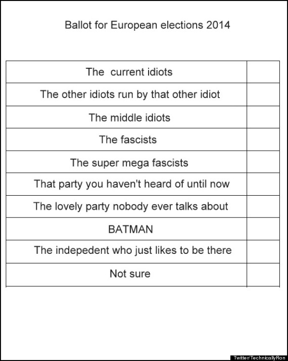 european election ballot paper