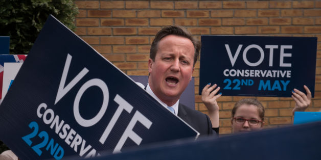 Prime Minister David Cameron speaks to party activists during a rally in Ealing, west London, ahead of tomorrow's local and European elections after returning from Newark following a visit to the town where he campaigned with the Mayor of London ahead of the by-election which is due on June 5.