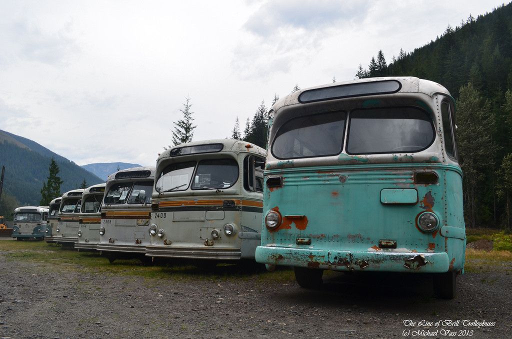Vancouver Trolley Bus Fleet Lives In B.C. Ghost Town