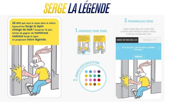 PHOTOS. Le lapin de la RATP s\'appelle \