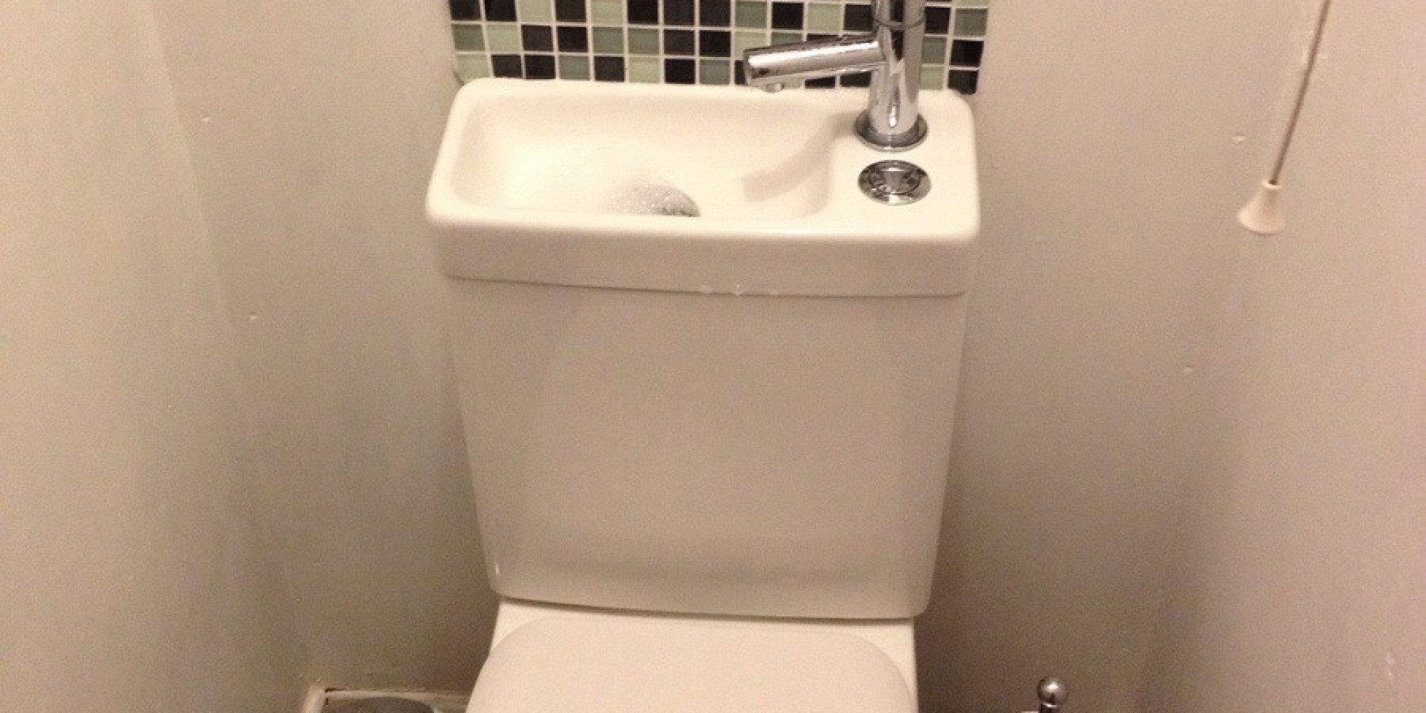 Sink On Toilet Is Ultimate Space Saver PHOTO HuffPost