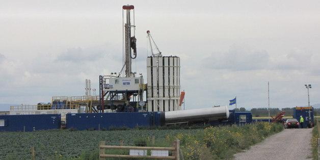 Site d'exploration de gaz de schiste - Lancashire, Grande Bretagne
