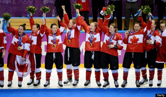 canada women hockey gold sochi