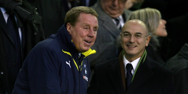 Tottenham Hotspur Chairman Daniel Levy (right) and manager Harry Redknapp (left) in the stands