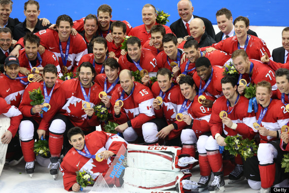 canadian men hockey sochi gold