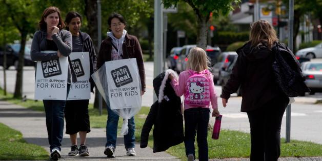 B.C. teachers walk the picket line.