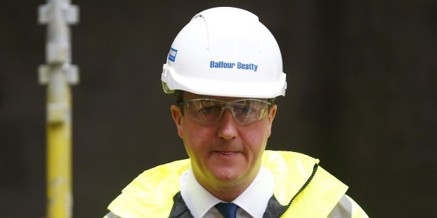 Prime Minister David Cameron during a visit to a construction site in central London before travelling to Brussels to urge fellow European Union leaders to embrace reform