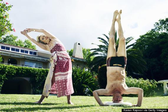 senior people exercise