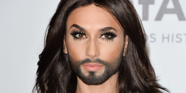 CAP D'ANTIBES, FRANCE - MAY 22:  Conchita Wurst attends amfAR's 21st Cinema Against AIDS Gala, Presented By WORLDVIEW, BOLD FILMS, And BVLGARI at the 67th Annual Cannes Film Festival on May 22, 2014 in Cap d'Antibes, France.  (Photo by George Pimentel/WireImage)