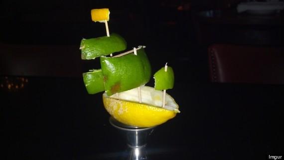 lemon sail boat