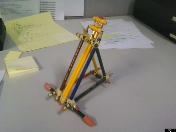 pencil catpault