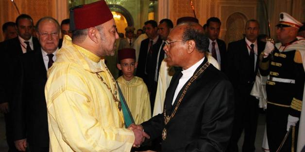 Le roi du Maroc en Tunisie