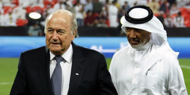 Joseph Blatter et Mohamed Bin Hammam en décembre 2010