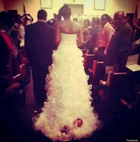Bride Sews Baby To Wedding Dress Train, Drags Her Down The Aisle ...
