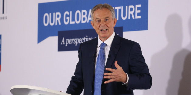 Tony Blair delivers a speech about Europe during a CBI event at the London Business School in central London.