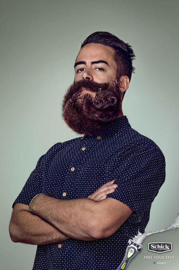 Re So Is The Gigantic Beard Clean Cut Haircut Look The Reverse