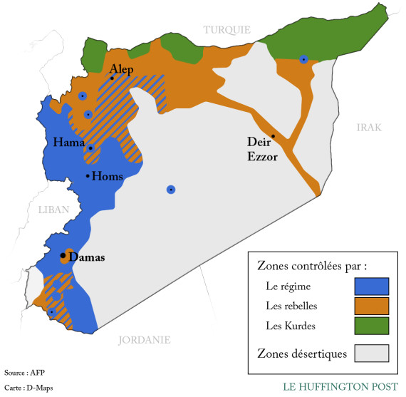 carte syrie elections