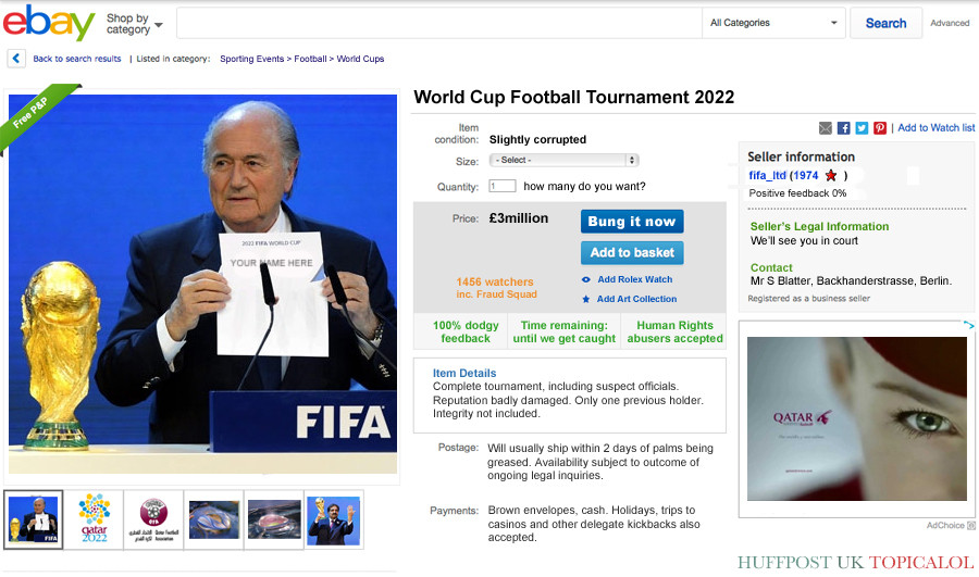 qatar ebay world cup spoof