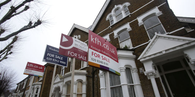 File photo dated 27/01/14 of For Sale signs displayed outside houses in Finsbury Park, north London, as house prices in the city have leapt by 18.2% annually, widening the gap between property values in the capital and those in the rest of the UK to the largest levels on record, building society Nationwide has reported.