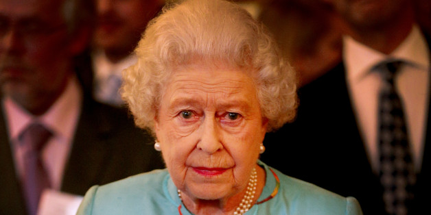 LONDON, UNITED KINGDOM - MAY 29: Queen Elizabeth II attends a reception for Leonard Cheshire Disability in the State Rooms, St James's Palace on May 29, 2014 in London, England. (Photo by Jonathan Brady - Pool / Getty Images)